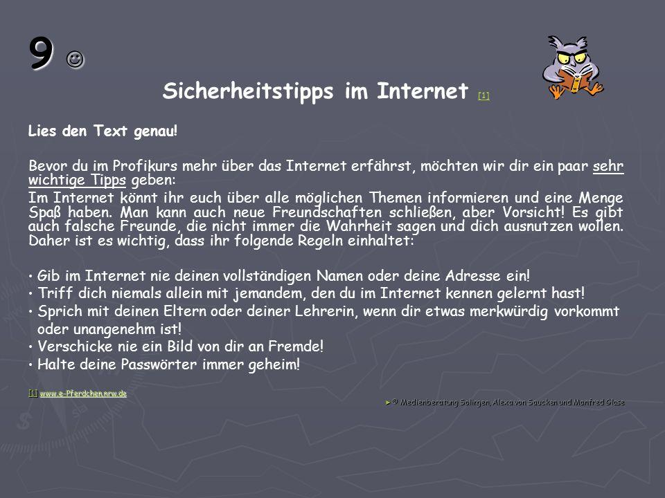 Sicherheitstipps im Internet [1]